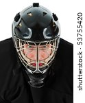 ice hockey goalie portrait.... | Shutterstock . vector #53755420