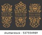 mexican sketch doodle... | Shutterstock . vector #537554989
