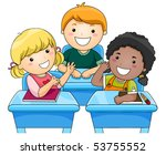 children discussion   vector | Shutterstock .eps vector #53755552