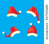 vector cartoon christmas santa...   Shutterstock .eps vector #537555685