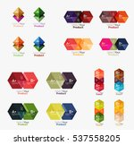 collection of geometric paper... | Shutterstock .eps vector #537558205