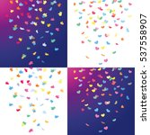 colorful falling confetti like  ... | Shutterstock .eps vector #537558907