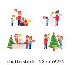 big set theme family winter... | Shutterstock .eps vector #537559225