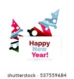 christmas and new year... | Shutterstock .eps vector #537559684