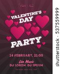 valentine's day invitation... | Shutterstock .eps vector #537559999