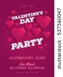 valentine's day invitation... | Shutterstock .eps vector #537560047