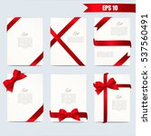 Set Gift Card Vector...