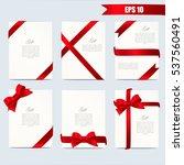 set gift card vector... | Shutterstock .eps vector #537560491