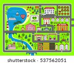 lovely city landscape car track.... | Shutterstock .eps vector #537562051