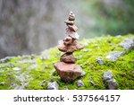 Stack Of Rocks Marking Trail