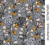 seamless floral pattern in... | Shutterstock .eps vector #537567685