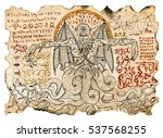 old parchment with mystic... | Shutterstock . vector #537568255