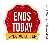 ends today label or sticker on...   Shutterstock .eps vector #537571174