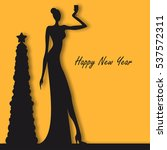 new year party people vector... | Shutterstock .eps vector #537572311
