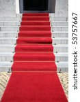 red carpet on the steps of city ... | Shutterstock . vector #53757667