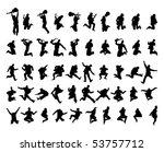 50 vector silhouettes | Shutterstock .eps vector #53757712
