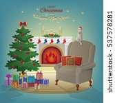 merry christmas and new year... | Shutterstock .eps vector #537578281