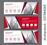 red banner template vector ... | Shutterstock .eps vector #537584065