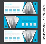 blue banner template vector ... | Shutterstock .eps vector #537584071