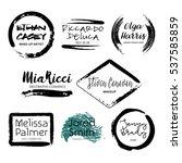 set of 8 creative makeup artist ... | Shutterstock .eps vector #537585859