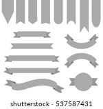 medium grey color ribbon banner ... | Shutterstock .eps vector #537587431