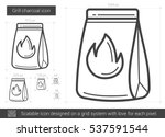 grill charcoal vector line icon ... | Shutterstock .eps vector #537591544