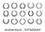 set of award laurel wreaths and ... | Shutterstock .eps vector #537600064