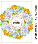 vintage delicate invitation... | Shutterstock .eps vector #537607081