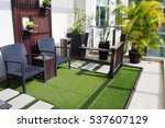seating area on the terrace of... | Shutterstock . vector #537607129