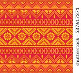 color native american ethnic... | Shutterstock . vector #537617371