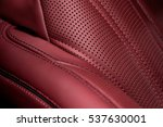 Part Of Leather Car Seat. Macro.