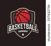 basketball tournament logos ... | Shutterstock .eps vector #537632734