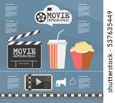 illustration movie infographic... | Shutterstock .eps vector #537635449
