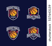 basketball logo  american logo... | Shutterstock .eps vector #537643159