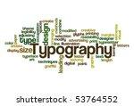typography   word cloud   Shutterstock .eps vector #53764552