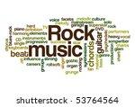 rock music   word cloud | Shutterstock .eps vector #53764564