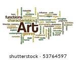 art   word cloud   Shutterstock .eps vector #53764597