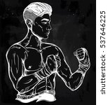 hand drawn strong and gritty... | Shutterstock .eps vector #537646225