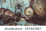 antique old pirate rare items... | Shutterstock . vector #537647857