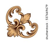 vintage baroque ornament retro... | Shutterstock .eps vector #537669679
