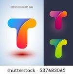 vector origami paper style... | Shutterstock .eps vector #537683065