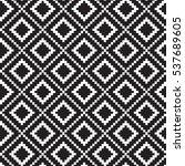 geometric squares seamless... | Shutterstock .eps vector #537689605