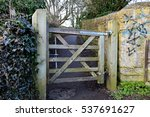A Wooden Gate In Bradford On...
