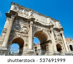 arch of constantine rome italy | Shutterstock . vector #537691999