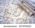 architectural project  | Shutterstock . vector #537693631