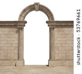 classic arch isolated on white