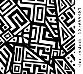 unique geometric vector... | Shutterstock .eps vector #537699481