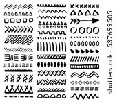 collection of hand drawn... | Shutterstock .eps vector #537699505
