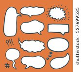 set of hand drawn comics style... | Shutterstock .eps vector #537699535