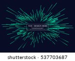 lines composed of glowing... | Shutterstock .eps vector #537703687